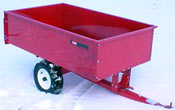 toro lawn and garden tractor 17 cu ft steel dumpcart