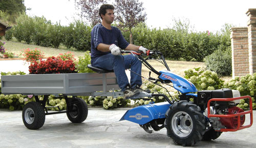 To Two Wheel Tractor Rototiller : Vermont bcs dump utility cart attachment
